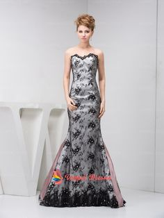 158.00$  Buy here - http://vixoe.justgood.pw/vig/item.php?t=yceq2e39446 - Unique Grey And Black Strapless Mermaid Lace Prom Dresses 2015