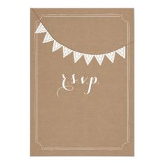 Card Stock Inspired Eyelet Bunting Wedding RSVP