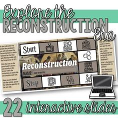 Students learn about the Reconstruction era in this engaging interactive Google Slides resource. This resource includes vocabulary activities, videos, comprehension questions, a sharecropping simulation activity, and primary source analysis activity, hexagonal thinking activity, and more.Topics cove... Howard Zinn, Primary Sources, Vocabulary Activities, Comprehension Questions, History Class, Student Learning, Black Leaders, Secondary Source, Toolbox