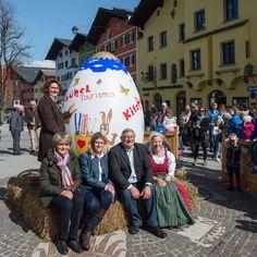 Kitzbüheler Osterei zu besichtigen in der Kitzbüheler Vorderstadt.