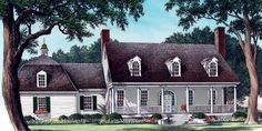 Lovely farm house plan. I would make a few changes, but the moslty open layout is great and well thought out.