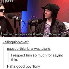 One of the many reasons why I love Tony Perry. He is such a stand up guy <3