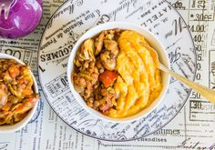 WIAW + creamy gingerbeer polenta with smoky lentils {vegan + gluten-free} Hodge Podge Recipe, Polenta, Lentils, Vegan Gluten Free, Entrees, Grilling, Curry, Eat, Ethnic Recipes