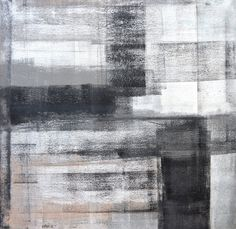 Neutral Abstract Art Painting by T30Gallery, $104.00