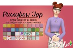 Pussybow Top - Deetron Sims