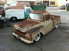 Chevy Apache stepside with a great patina