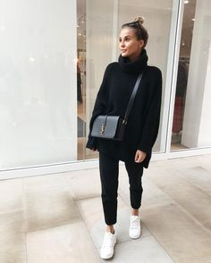 Autumn - Fall - Winter - September - Fashion - Inspiration - Poem - Thoughts - Olsen Twins - Anniken - Annijor - Zoella - Zoe Sugg - OOTD - March 24 2019 at Looks Style, Looks Cool, My Style, Trendy Style, Black Style, Mode Outfits, Trendy Outfits, Fashion Outfits, Fashion Clothes