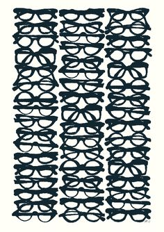 Glasses by Maria Hatling #Illustration #Fine_Art_Print #Maria_Hatling