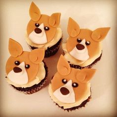 Corgi Cupcakes! Love These! Made By Todays Sweet Cakery