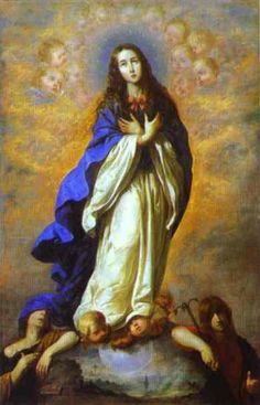 Francisco-Zurbaran Inmaculada  Concepción