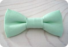 Bowtie for Newborn, Infant/Toddler, Youth - Mint Kona cotton bowtie, wedding parties, birthday, photo prop, father/son sets * This one might be better for Max. Clip or pin option $8.95
