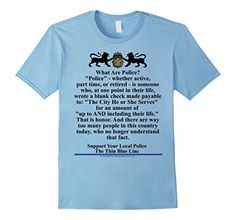 Men's Thin Blue Line. Support Your Local Police 2XL Baby ...