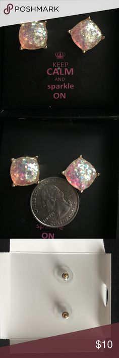 White sparkling gold earrings White sparkling gold earrings costume jewelry Jewelry Earrings