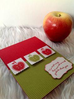 Teacher #thank you card -apples