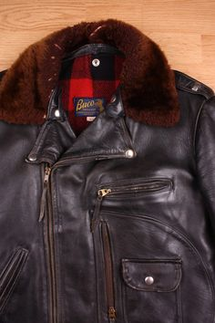 Buco Leather Motorcycle Jacket in horsehide.