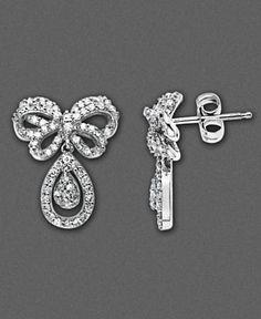 My wedding day earrings (Macy's)