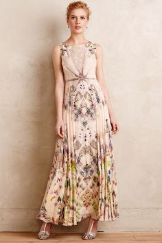 7fa03fa362238 NWT Anthropologie Daphne Gown maxi dress size 12 P Petite by Geisha Designs