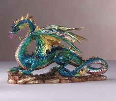 Multicolored Metallic Dragon