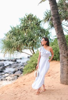 summer stripe maxi dress petite fashion blog