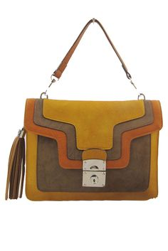 love the overlaying of pieces in this Juliet Crossbody Bag...