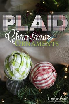 plaid christmas ornaments from mens shirts