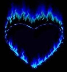 The hottest part of fire. This reminds me of the tattoo I got when I turned A heart with blue flames. It's on the back of my shoulder. I hardly ever show it, but it's apart of me forever. Rhapsody In Blue, Heart Images, Heart Pictures, Heart Pics, I Love Heart, Heart Wallpaper, Lion Wallpaper, Skull Wallpaper, Blue Flames
