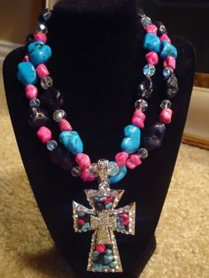 Double Stranded Bling Cowgirl Necklace with by lihlenfeldt on Etsy, $25.00