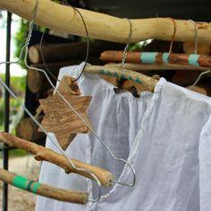 Cintre en bois / DIY ceintre / DIY dressing / customiser ses cintres