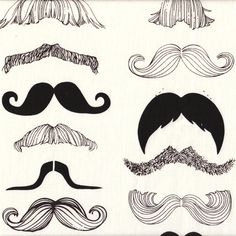 Tissu Where is My Moustache ?