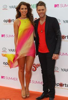 Just married: Brian McFadden, pictured with his new wife Vogue Williams, has dismissed his first marriage as 'shambolic'
