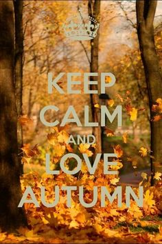 .Keep Calm and Love Autumn