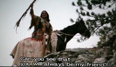 Dances With Wolves! I am Wind In His Hair. Do you see that I am your friend? Can you see that you will always be my friend? - Dances With Wolves Native American Movies, Native American Quotes, Native American Indians, Movies Showing, Movies And Tv Shows, Wolf Meme, Dances With Wolves, Old Hollywood Movies, Into The West