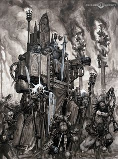 Fantasy Battle, Fantasy Races, Dark Fantasy, Warhammer 40k Art, Warhammer Fantasy, Minor Threat, Rogue Traders, Black And White Artwork, Drawing Practice