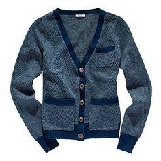 Madewell herringbone merino wool cardigan