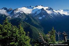 Mount Olympus, Olympic National Park, Washington. I was on the Olympic mountains side of the Puget Sound.