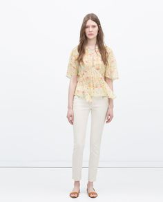 SEAMED TROUSERS WITH ZIPS from Zara