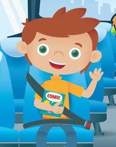 Un niño en el autobús escolar