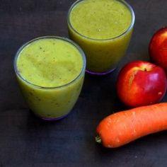 Breakfast Smoothie: kiwi, carrot, nectarine, yogurt