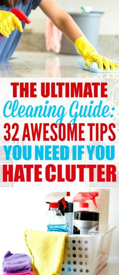 This cleaning guide is THE BEST! I'm so glad I found these AMAZING cleaning tips! Now I have some good cleaning hacks and ideas to try! #cleaningtips #cleaninghacks #homehacks #cleaningguides #cleaningguide #cleaningideas #homeideas