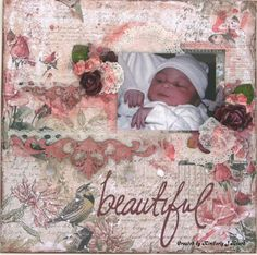 Swirlydoos Scrapbook Kit Club: Project by designer Kim Heard using the January 2015 kit, Bejeweled.