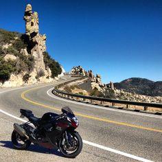 Name your favorite spot to take corners. Here's Tim's GSX-R on a winding Utah road. T Shirt Moto, Moto Suzuki, Utah, Motorcycle, Roads, Road Routes, Motorcycles, Street, Motorbikes