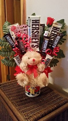 Happy Valentine's Bear and Chocolate Candy Cup by AnitaEvelyn