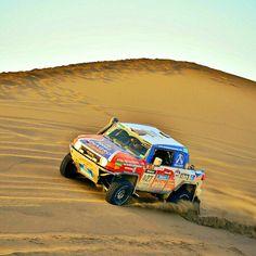Excelente foto de Luis Barbery en la 3ra etapa del Dakar 2014