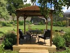 Maximise the impact of your garden with our wooden gazebos. A massive range of premium quality garden structures with 10 year guarantee.