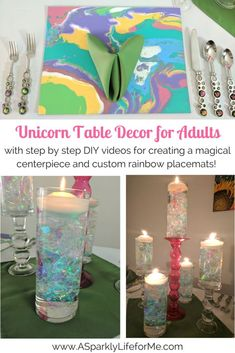 DIY Unicorn Table De