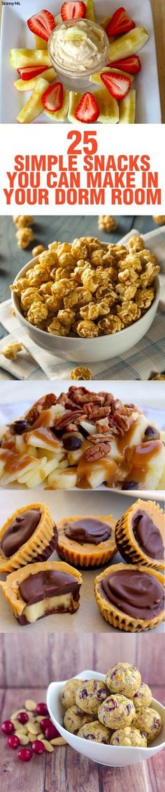 25 Simple Snacks You Can Make in Your Dorm Room!