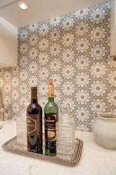 An up close look at the Alston Hexagon tile featured on carrara.  This luxury tile can be used on the floor as bathroom tile or as a kitchen backsplash.