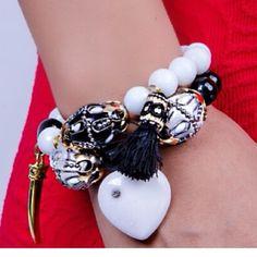 Bracelet Set of 2 bracelet hand made in Agates Stones Jewelry Bracelets