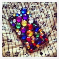 Bejeweled phone case.