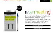 Evermeeting #Eurekas! La aplicación que eliminará definitivamente bolígrafo y papel